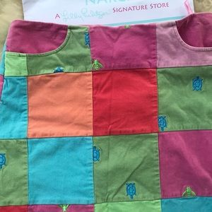 Lily Pulitzer Corduroy Patchwork Turtle Skirt